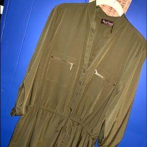 Speed Control Army Green Cargo Dress XL